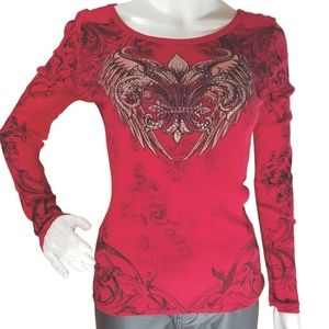 Vocal Crystals Angel Wings Tattoo Shirt